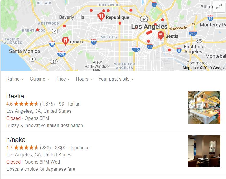google my business snippets